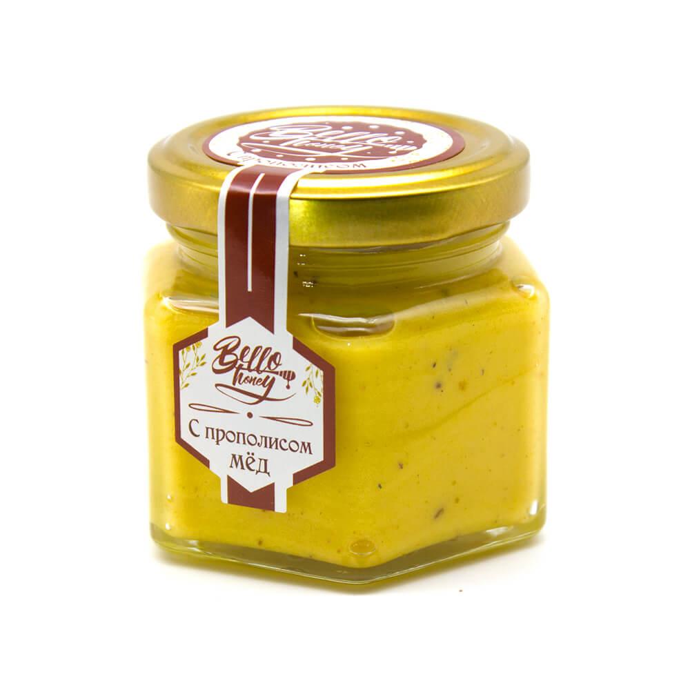 Крем-мед с прополисом BelloHoney