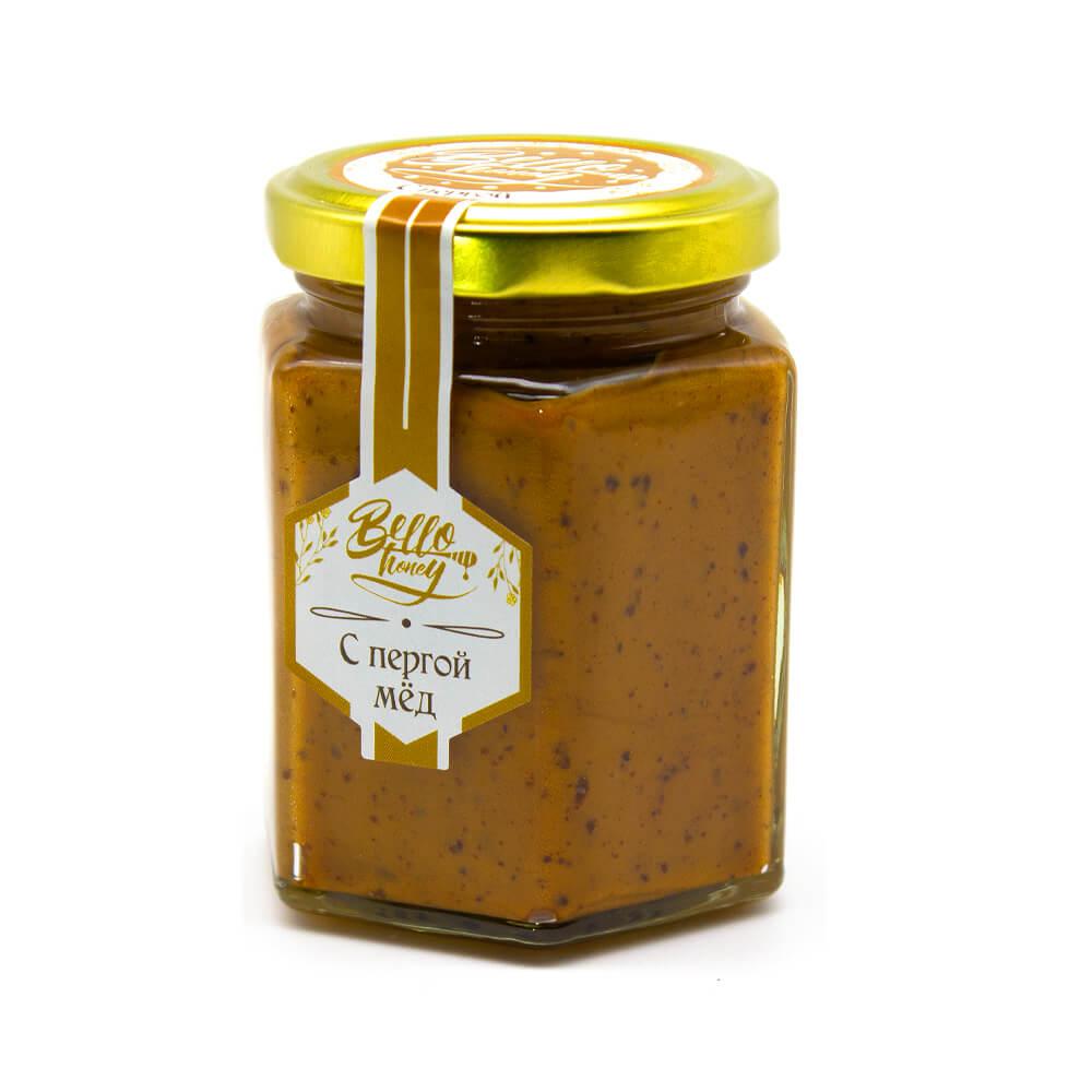 Крем-мед с пергой BelloHoney