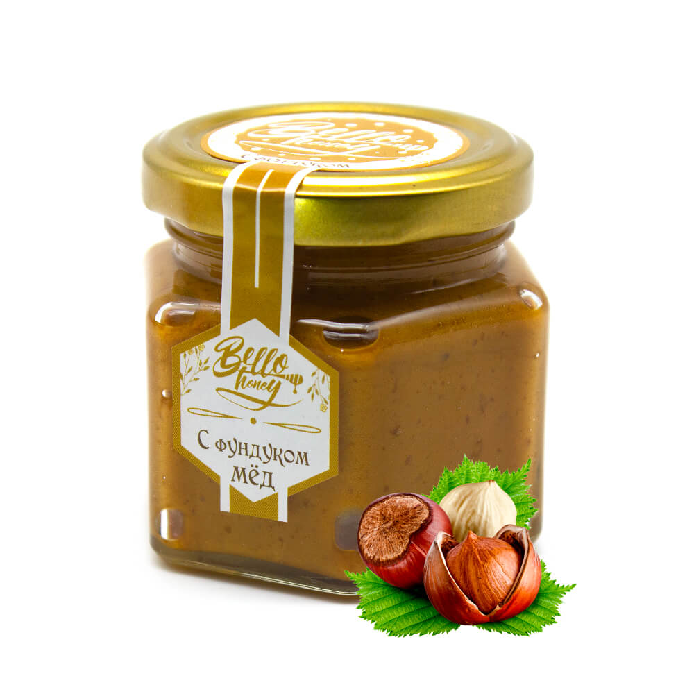Крем-мед с фундуком BelloHoney
