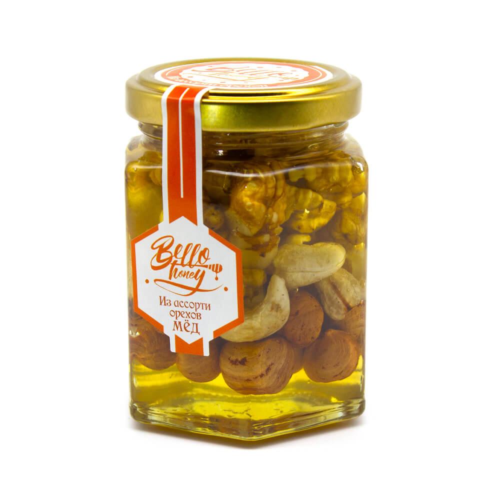 Ассорти орехов в меду BelloHoney