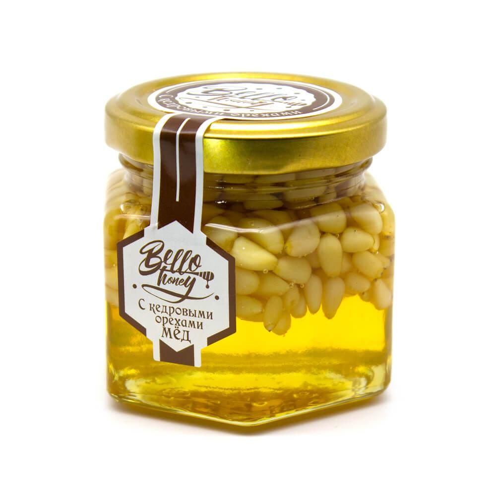 Кедровые орехами в меду BelloHoney